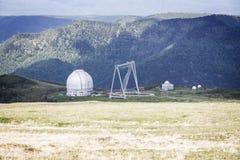 Observatorio en montañas Imagen de archivo