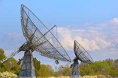 Observatorio para la radioastronomía solar Imagen de archivo