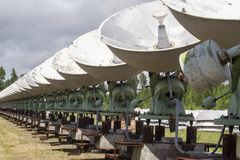 Observatorio solar en Siberia del este Imágenes de archivo libres de regalías
