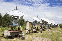 Observatorio solar en Siberia del este Imagen de archivo libre de regalías
