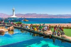 Observatorio subacuático Marine Park de Eilat. Fotos de archivo libres de regalías