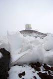 Observatorios y nieve Imagen de archivo libre de regalías