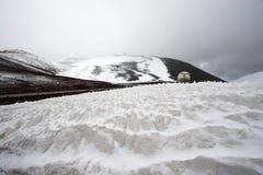 Observatorios y nieve Fotos de archivo libres de regalías