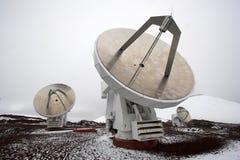 Observatorios y nieve Imagenes de archivo