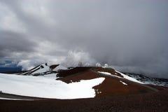 Observatorios y nieve Fotografía de archivo