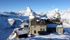 Observatorium överst av matterhorn Royaltyfria Bilder