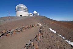 Observatorium på Mauna Kea, Hawaii statlig hög poäng Royaltyfri Fotografi