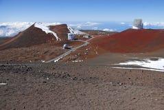 Observatorium på Mauna Kea, Hawaii statlig hög poäng Royaltyfria Foton