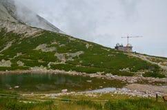 Observatorium på skalnatepleso Arkivfoton