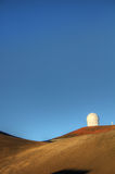 Observatorium uppe på Mauna Kea Arkivfoto