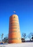 Observatoriumturm Kilmek an den Schlossruinen in Grudziadz Stockbild