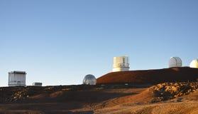 Observatory. Atop Mona Kea, Hawaii stock photos