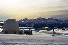 Observatory in Alps mountains Stock Images