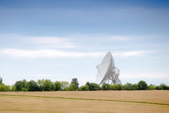 Observatory antenna. Big observatory antenna directed up to the signals Royalty Free Stock Photography