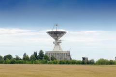 Observatory antenna. Big observatory antenna directed up to the space Royalty Free Stock Images