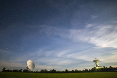 Observatory antennas. Directed into space to receive signals Royalty Free Stock Image