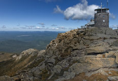 Observatory atop whiteface mountain. Top of Whiteface mountain over looking Lake Placid royalty free stock photo