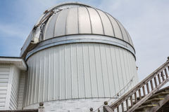 Observatory. An observatory built for viewing astronomical or celestial bodies stock images