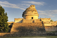 The observatory at Chichen Itza, Royalty Free Stock Image