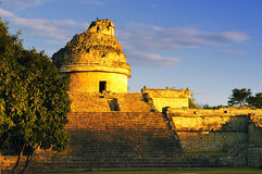 The observatory at Chichen Itza,. Mexoco, Yucatan Royalty Free Stock Photography