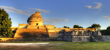 The observatory at Chichen Itza, Royalty Free Stock Photo