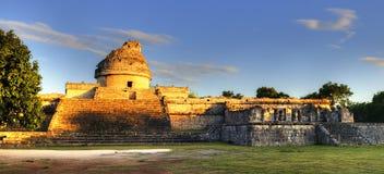 The observatory at Chichen Itza,. Mexoco, Yucatan Royalty Free Stock Photo