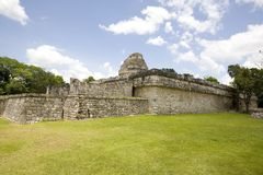 The observatory at Chichen Itza. El Caracol, also called the observatory, at Chichen Itza in Mexico Royalty Free Stock Photo