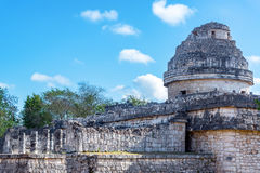 Observatory of Chichen Itza Royalty Free Stock Photo