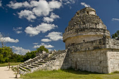 Observatory Chichen Itza Mex. The Observatory at Chichen Itza in Mexico Royalty Free Stock Image
