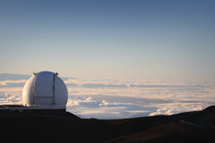 Observatory in the Clouds Stock Image