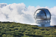 Observatory in the clouds Royalty Free Stock Photography