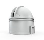 Observatory Dome. Isolated on white background. 3D render stock illustration