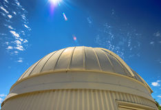 Observatory Dome With Lens Flare Stock Photography