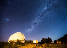 Observatory dome and Milky Way Royalty Free Stock Photography