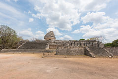 The Observatory El Caracol at the ancient Mayan ruins in Chichen Itza, Mexico Royalty Free Stock Photography