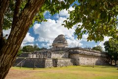 The Observatory El Caracol. Chichen Itza, Mexico Stock Photography