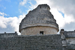 Observatory El Caracol. Mayan archeological site of Chichen Itza Stock Photos