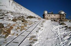 Observatory in High Tatras. Skalnate pleso - Lomnicky stit - High Tatras - Slovakia stock photography