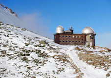 Observatory in High Tatras Skalnate pleso Royalty Free Stock Images