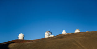 Observatory on hillside Royalty Free Stock Image