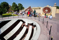 Observatory Jantar Mantar with astronomical instrument Jai Prakash Yantra Stock Photos