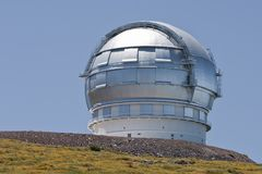 Observatory at La Palma, Canary Islands royalty free stock photography