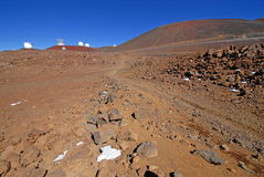 Observatory on Mauna Kea, Hawaii state high point Royalty Free Stock Photography