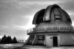 Observatory of mont megantic. In black and white Stock Photos