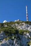 Observatory on a mountain peak Royalty Free Stock Photo