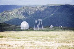 Observatory in mountains stock image