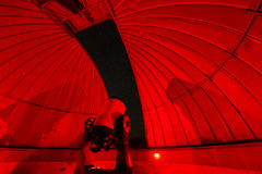 Observatory at Night. Looking out of an observatory in Vicuna, Chile royalty free stock photography