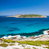 Observatory Point. And island from the Lookout, Esperance Western Australia royalty free stock photo