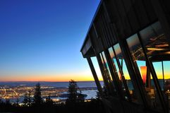 The Observatory restaurant on Grouse Mountain Royalty Free Stock Photography