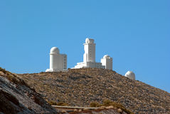 Observatory on the road to mount Teide Royalty Free Stock Image